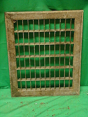 Vintage 1920S Cast Iron Heating Grate Cover Rectangular 14 X 11 F