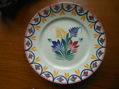 Hand Painted Quimper Plate, Fully Signed