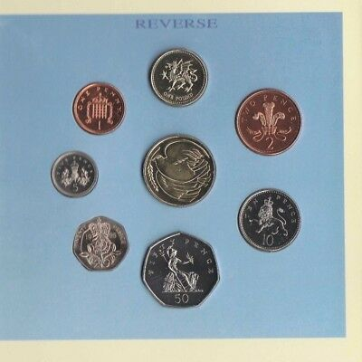 1995 United Kingdom Brilliant Uncirculated Coin collection,7 coin Mint set