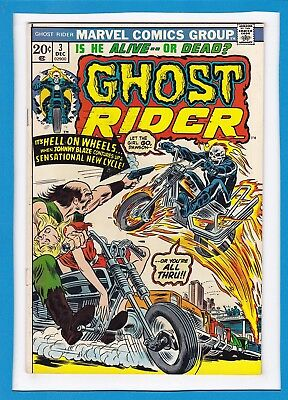 "Ghost Rider #3_December 1973_Fine/very Fine_""hell On Wheels""_Bronze Age Marvel!"