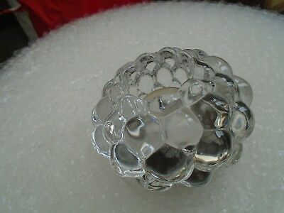large chunky ORREFORS glass votive/tea light holder  quirky bubble pattern  LOOK