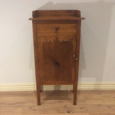 Victorian Pine Meat Safe with Top Drawer and Shield Panel Door. Circa 1870.