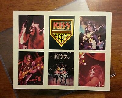 Kiss army insert  vintage and rare  from the originals