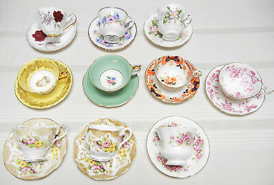 Lot Of 10 Various Cup & Saucer Sets - Paragon, Royal Albert, Coalport...