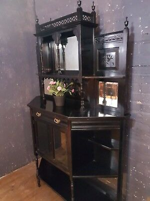 Victorian Aesthetic Movement Ebonised Sideboard - C1880 (Antique Dresser)
