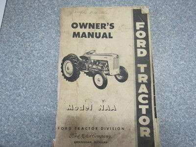 """1954 Ford Tractor Owner's Manual Model """"NAA"""" Tractor - Birmingham, Mich"""