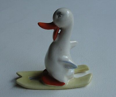 Vintage Beswick Duck On Skis - Beswick England - No 762