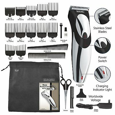 Wahl 9639700 Haircut & Beard Rechargeable Cordless Men's and Facial Trimmer Set