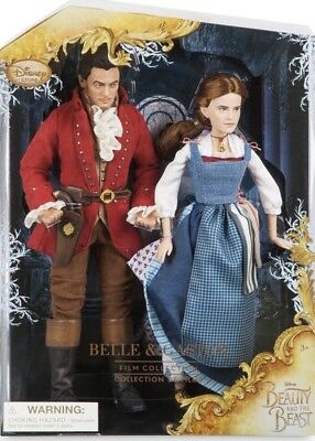 Disney Store Belle and Gaston Doll Beauty and the Beast Emma Watson Luke Evans