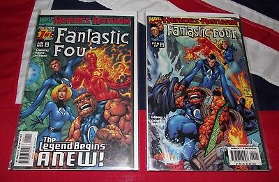 Fantastic Four #1 & #2 - Heroes Return - Marvel Comics Job Lot Reborn
