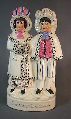 "Staffordshire Figure Group ""darby & Joan"" 10 3/4"" Tall"