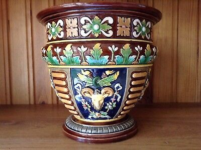 Very Finely Detailed Majolica Jardiniere C1870