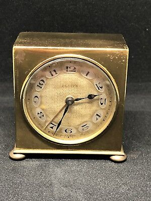 Vintage Art Deco Brass Zenith Alarm Clock - Swiss Made Deposé - Untested