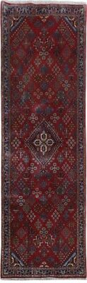 4x12 Gallery Runner Persian Meymeh Oriental Hand-Knotted Red Rug