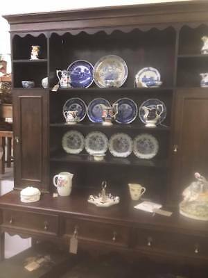 Antique Continental dresser top wall shelves and sideboard pot board base