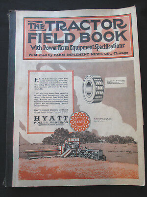 THE TRACTOR FIELD BOOK 1929 Pwr farm equip specs