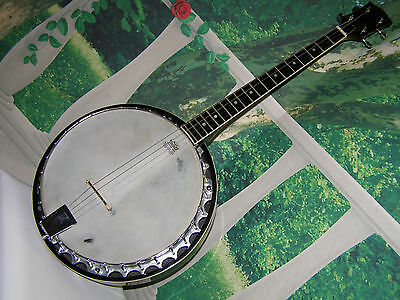 Banjo, 4 String, Jida ,Vintage (70er), Alukessel, spielbereit, made in Japan
