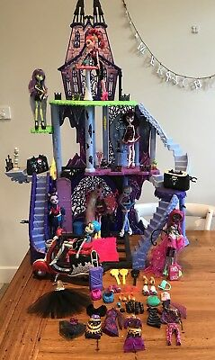 MONSTER HIGH BULK Rare House, Scooter, Dolls, Clothes, Shoes, Accessories