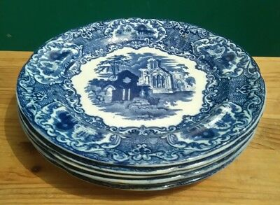 6 George Jones & Sons Luncheon Plates in the Abbey 1790 Pattern