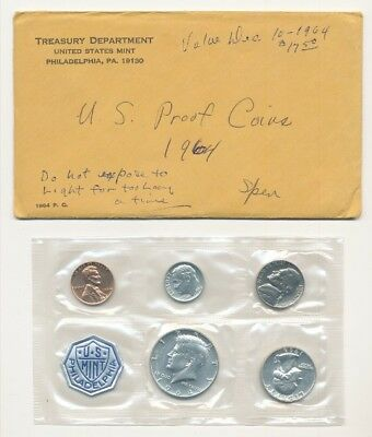 1964 Us Mint Silver Proof Set Exact Shown - Free Shipping