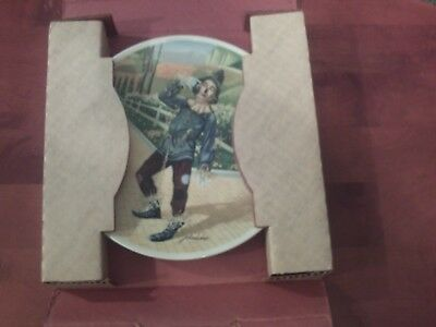 Knowles Wizard of Oz If I Only Had A Brain Collector Plate 1977
