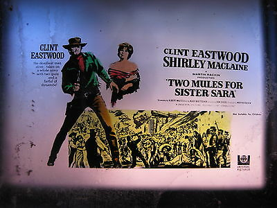 TWO MULES FOR SISTER SARA 1970 Australian cinema movie projector glass slide