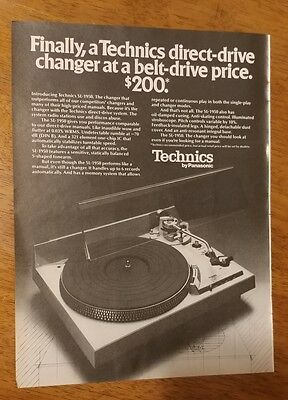 1977 Technics by Panasonic record player OR Carlton cigarettes Original Print Ad