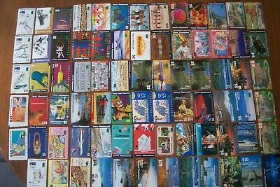 77 Vintage Telecom Phonecards Used Assoted Mix Olympics Sports Etc Australian