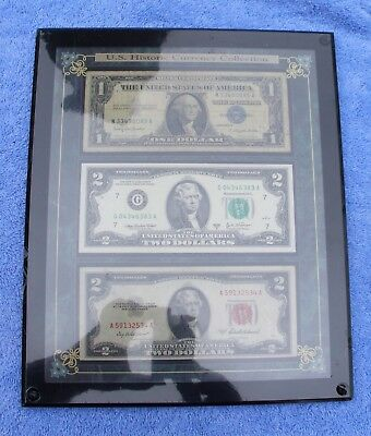U.S. Historic Currency Collection (framed and shrink wrapped bills)