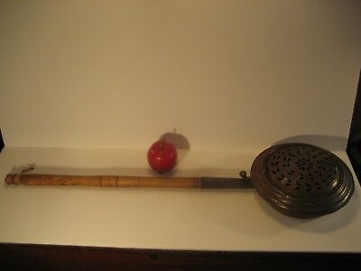 Early Antique Chestnut Roaster-Complete And Original-Push Up Top