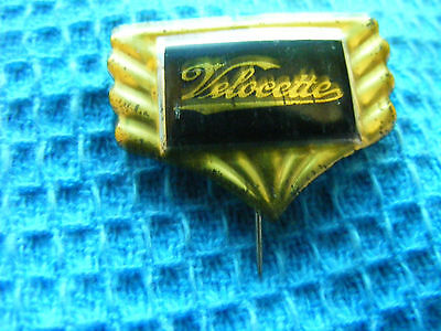 VELOCETTE  motorcycle very old lapel,hat pin badge,prob. 1950s.(A)