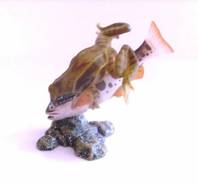 Takara Yujin Kaiyodo Stream Brown Frog Eating Fish Secret Figure Rare SP