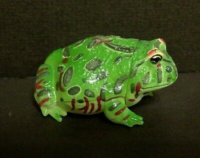 Kaiyodo Pet Animal Green Argentine Horned Pacman Frog Toad Figure
