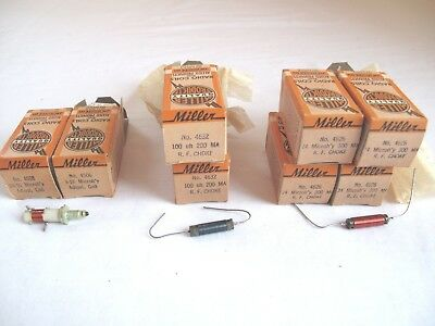 Jw Miller  Nos  Rf Chokes And Coils - 8 Pcs