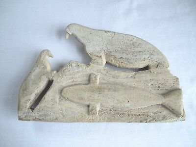 Whale Bone Seal Carving / Inuit