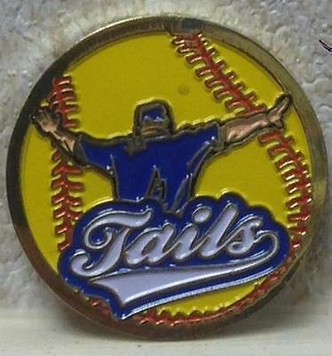 Umpire Yellow Edition Challenge Flipping Coin Solid Metal