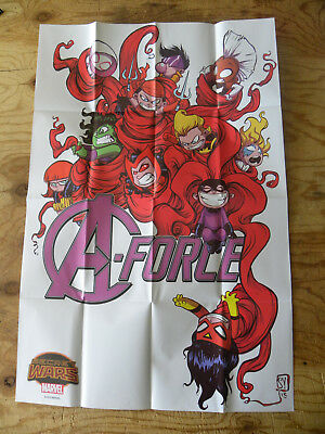 Marvel 2015 A-FORCE #1 by Skottie Young  24 X 36 poster rare