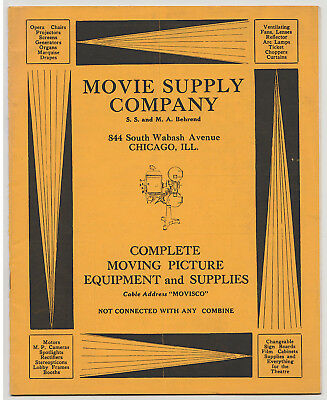 MOVIE SUPPLY COMPANY Catalog & Order Form - Chicago - SILENT MOVIE THEATERS 1920