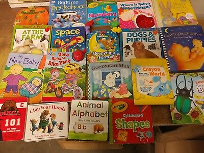 Lot of 40 Board Toddler Hardcover Picture DayCare Kid Child Books - UNSORTED G34