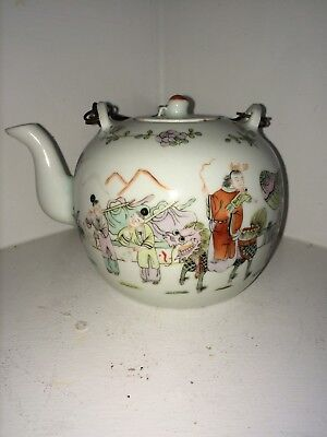 Antique Chinese Porcelain Teapot Qing
