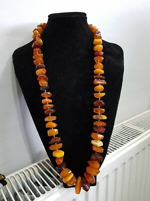 polished baltic amber neckalace