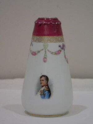 Antique Miniature French Porcelain Vase Napoleon Bonaparte Numbered 7086