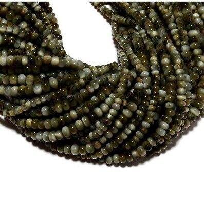 Cats Eye Stone Cats Eye Rondelle Beads 5mm Beads 14 Inch strand