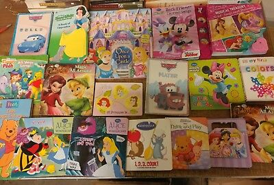 Lot of 40 Disney Board Toddler Hardcover Picture DayCare Child Book UNSORTED G53