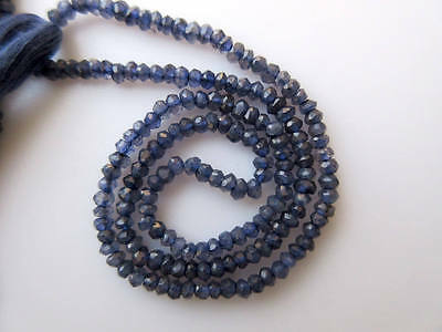Iolite Faceted Rondelle Beads 3mm Gemstone Beads 13 Inch Strand GDS649