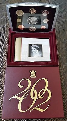 2002 Royal Mint, United Kingdom Proof Collection, 9 Coin Set, £8.88 face value