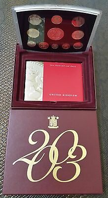 2003 Royal Mint, United Kingdom Proof Collection, 10 Coin Set, £10.88 face value