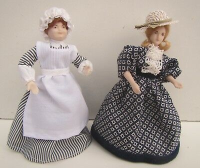 2 Dolls House Bisque Figurines / People