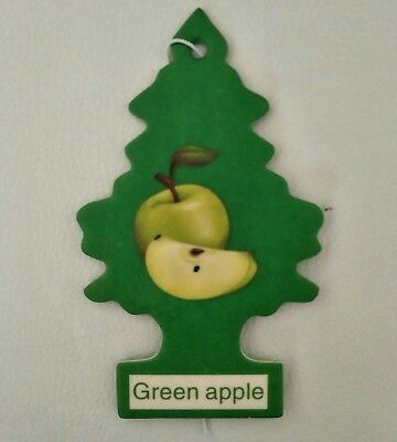 X 10 New Little Tree Car,truck,scent Air Freshener Fragrance Green Aplle Top Car