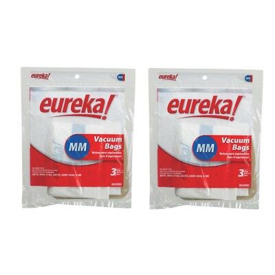 6 Eureka 60295, 60295C Style Mighty Mite 3, Canister Vac Paper Bags Genuine